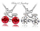 Simulated Ruby/Blue/Clear Bike/Bicycle Pendant&Necklace/RGN299/211/252