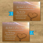 Personalised Wedding Save The Date Cards Notes Invites Married Abroad Wedding