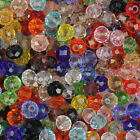 3x4mm,4x6mm,6x8mm Mixed Faceted Glass Crystal Rondelle Spacer Loose Beads SL67