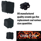 Gas Fire Replacement Ceramic UK Coals Universal Fake Heat Resistant Various Size