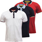 Mens Brave Soul Polo Shirt Stripe Collar/Cuff S M L XL