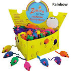 Cat Mice Toys, USA Seller, Zanies, 5,10,20,30,60,120 Rattle Rainbow Furry Mouse