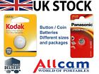 Button / Coin batteries from Kodak and Panasonic, different models, new sealed