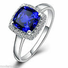 Navachi 925 Sterling Silver Sapphire Synthetic Micro inlays Wedding Ring R9502