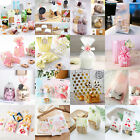 Lovely Clear Cello Cellophane Cookie Sweet Wedding Birthday Party Gusset Bags