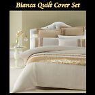 BIANCA Gold Latte - Sequined Quilt Cover Set - SINGLE DOUBLE QUEEN KING