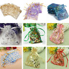 100pcs Gauze Organza Gift Bag Jewelry Packing Pouch Wedding Favor Gift Bags