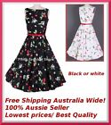 Women Rockabilly Vintage Party prom 50s Retro Swing Formal Pin up Dress Plus Sz