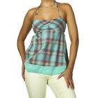 BNWT Roxy 'Secret Admirer' Kelly Plaid Top Suntop T-Shirt Tee  Sz S, UK 8, EU 36