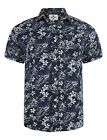 Bellfield Shirt Molokai Surfer Print Navy Mens Designer Branded Clothing