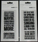 Kaisercraft TEXTURE Clear Stamps 'CHRISTMAS QUOTES' (Choose from 4) KAISER