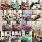 2 pc Duvet Cover with Pillowcase Reversible Quilt Cover Bedding Set Single