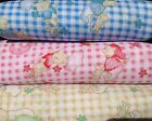 Sleepy Time Teddies Polycotton Fabric Pink Red blue Beige Green 112cm wide