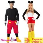 Ladies Mens Minnie Mickey Mouse Fancy Dress Up Costume Halloween Disney Theme