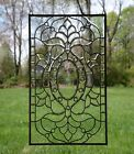 "Tiffany Style stained glass Clear Beveled window panel, 20.5"" x 34.5"""