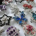 5-50pcs wholesale lots jewelry rhinestone silver Rose Vintage Rings free shippin