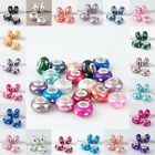 WHOLESALE LOTS CLEAR CRYSTAL FIMO POLYMER CLAY FINDINGS EUROPEAN CHARM BEADS