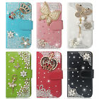 New Colorful Bling Crystal Wallet Leather Phone Case For iphone Samsung LG M7 P6