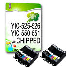 12 CHIPPED Ink Cartridges for Canon PIXMA Printers Black + Colours With grey