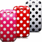 For Samsung Galaxy S3 Polka Dots Soft TPU Silicone Cover Case Skin