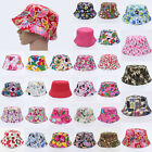 Kids Girl Toddler Summer Bucket Sun Hat Floral Cotton Beach Bonnet Cap Beanie
