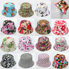 Women Flower Bucket Sun Hats Summer Beach Fishing Camping Hiking Holiday Caps