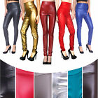 Hot Sexy Womens' High Waist Stretchy Skinny Faux Leather Slim Pants Leggings