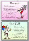 Personalised Thank you cards Birthday 30th 40th 50th 60th 70th 80th 90th