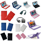 Micro USB / USB Keyboard +PU Leather Folio Cover Case For 7899.710.1Tablet PC