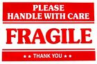 """F1 Fragile Handle With Care Packing Shipping Stickers Easy Peel Apply 2"""" X 3"""""""