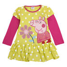 New Floral Peppa Pig Spring Autumn Clothes Kids Girls Polka Dots TUTU Dress