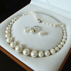 RARE SOUTH WHITE SEA SHELL PEARL Please choose  NECKLACE RING EARRINGS