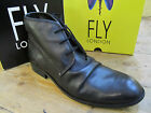 Fly London Watt Black Leather Lace Up Ankle Boot Shoe Size 7 8 9 10 11
