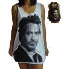 **Unisex Robert Downey Jr Iron Man Vest** Tank Top Singlet T-Shirt Sizes S-XL