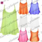 Womens Ladies Strappy Stretchy Burn Out Camisole Flared Franki Swing Vest Top