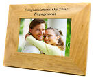 Personalised Wedding Anniversary or Engagement Oak Photo Frames, Engraved Gift