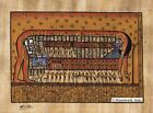 """Egyptian Papyrus Painting - Goddess Nut 8X12"""" + Hand Painted #23 + Description"""