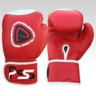 Brand New Machine Moulded Foam Boxing Gloves Fight Punch Red Rex Leather Bag