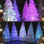 13cm Acrylic Icy Crystal Colorful Changing LED Lamp Light Christmas Tree Gift