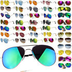New Fashion  Men Women Aviator Sunglasses Reflective Lens Gold Silver Frame