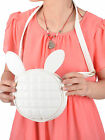 Vintage Stylish Faux Leather Mini Handbag Round Bag With Rabbit Bunny Ears