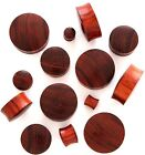 RED TIGER WOOD ORGANIC HAND CARVED DOMED EAR STRETCHER PLUG FLESH TUNNEL 3-30mm