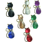 Adjustable kitty rings pearly catesye sparkly rings prom jewellery 0121