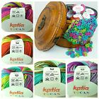 KATIA TUCAN Cotton 4Ply Crochet & Knitting Yarn - Choose Colour