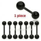 "1pc. 14GA~1/2"", 9/16, 5/8"", 3/4"", 7/8"" Titanium Anodized Steel Tongue Barbell"