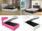 Hollywood Ottoman Storage Lift Up Bed with Crystals - Single, Double, Kingsize