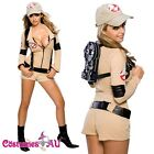 Ladies Ghostbuster Sexy Adult Fancy Costume Halloween Fancy Dress