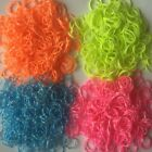 600 COLOURFUL KIDS LOOM RUBBER BANDS BRACELET TWIST BANDZ S CLIPS MAKING STRIPES