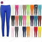 New Womens Plain Stretch Ladies Full Ankle Length Trousers Pants Tights Leggings