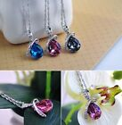 Heart Love Teardrop Austria Crystal Necklace Pendant Swarovski element Cute